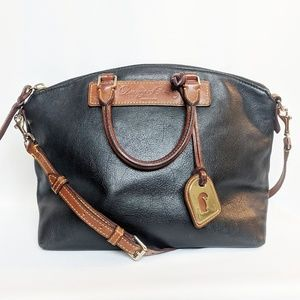 Dooney and Bourke Dillen Satchel  Bag Black & Tan
